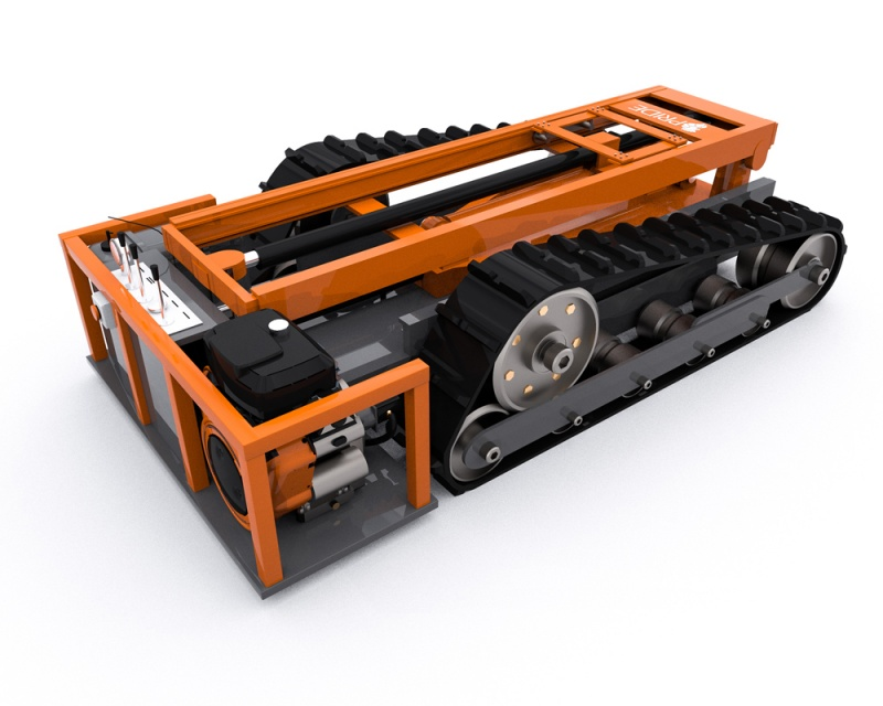 Self-Propelled Crawler Chassis Size M
